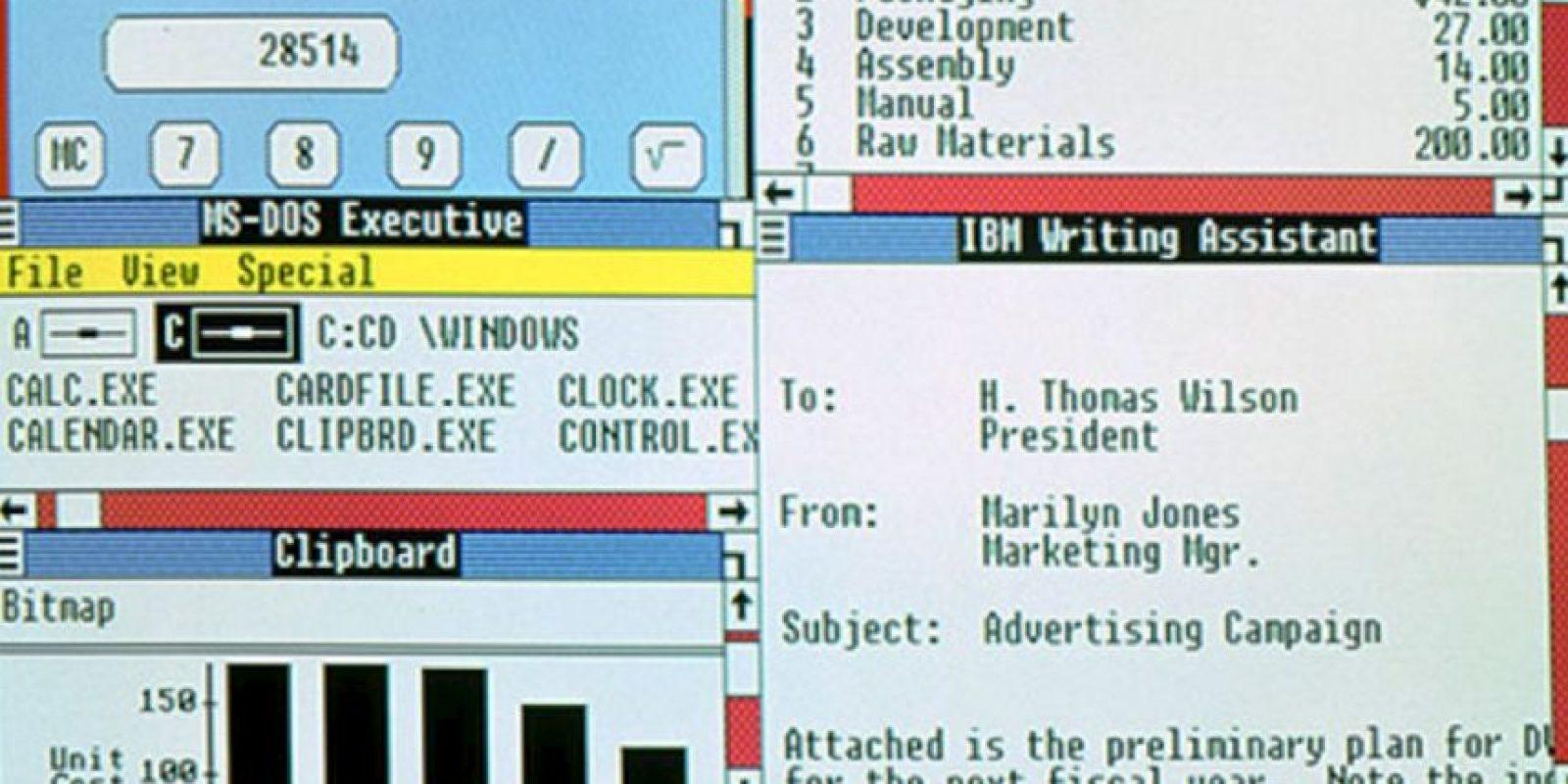 En 1987 Windows lanzó sus nuevas actualizaciones. Windows 2.0 al 2.11 se lanzarán desde esa fecha hasta el año 1990 Foto:Microsoft