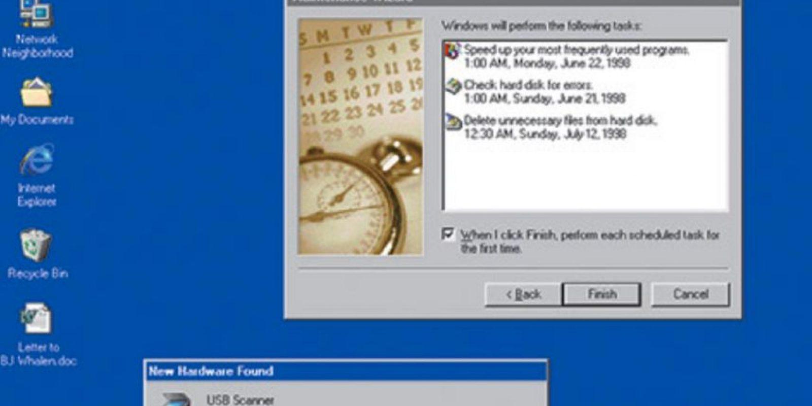 A partir de esta fecha los usuarios de Windows esperaban cada año las nuevas mejoras en el sistema. En 1998 fue creado Windows 98 Foto:Microsoft