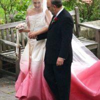Gwen Stefani se casó con tela casi batik. Foto:vía Getty Images
