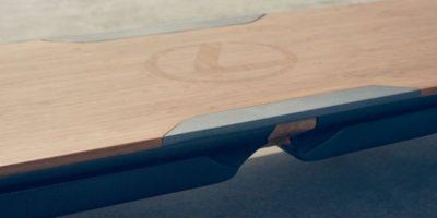 La tabla está fabricada con una base de bambú. Foto:Lexus International