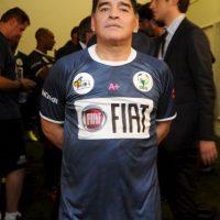 """En 2014, Maradona se lanzó contra el """"Kun"""" Agüero, expareja de su hija, Giannina, y con quien tuvo guerra de declaraciones por presuntas infidelidades. Foto:Getty Images"""