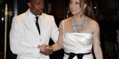 Acá, con Nick Cannon y un vestido alquilado. Foto:vía Getty Images