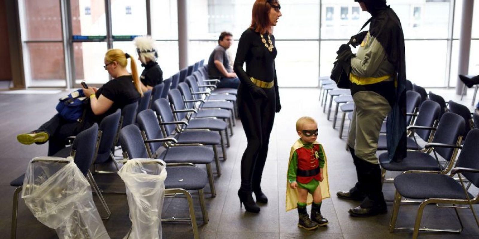 Cosplayers en Inglaterra. Foto:AFP