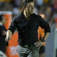 Marcelo Gallardo, entrenador de los argentinos, fue expulsado por reclamar al árbitro. Foto:Getty Images