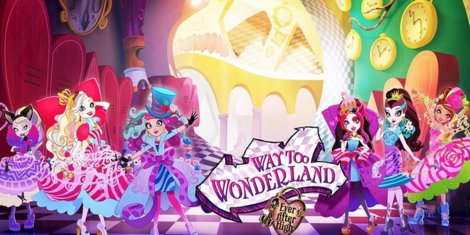 """Ever After High, Way too Wonderland"". Disponible a partir del 14 de agosto. Foto: Ever After High cartoon series."