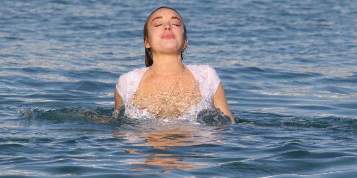 Los desastrosos looks de Lindsay Lohan en traje de baño
