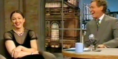 5. Madonna se fumó un porro frente a David Letterman. Foto:vía Youtube