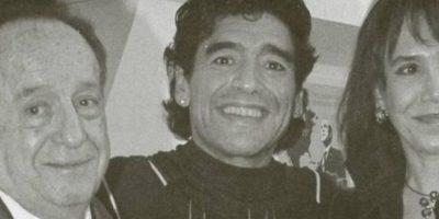 Con Maradona Foto:Roberto Gómez Bolaños/Facebook