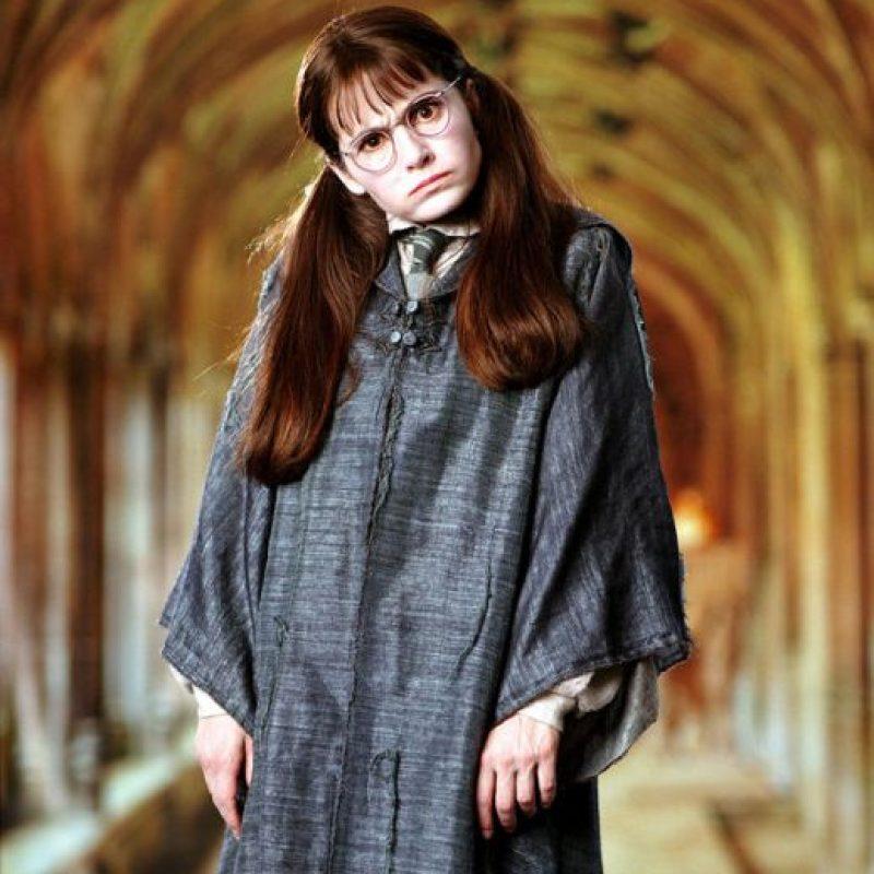 """Interpretó a la fantasma """"Myrtle, La Llorona"""" Foto:vía facebook.com/harrypottermovie"""