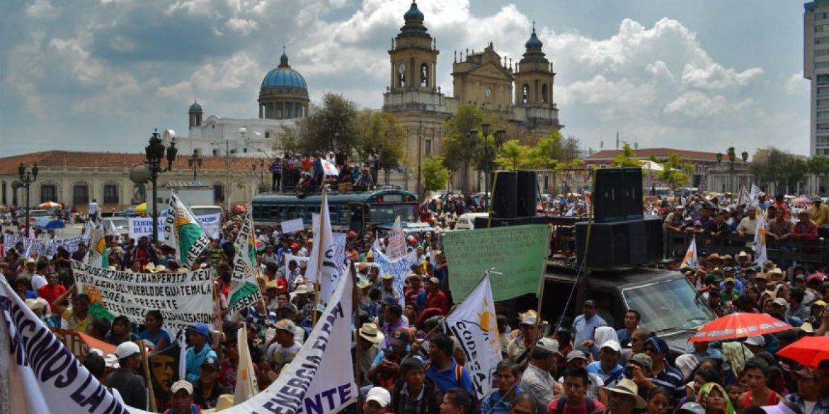 El 5 de agosto habrá protestas campesinas contra el presidente Otto Pérez