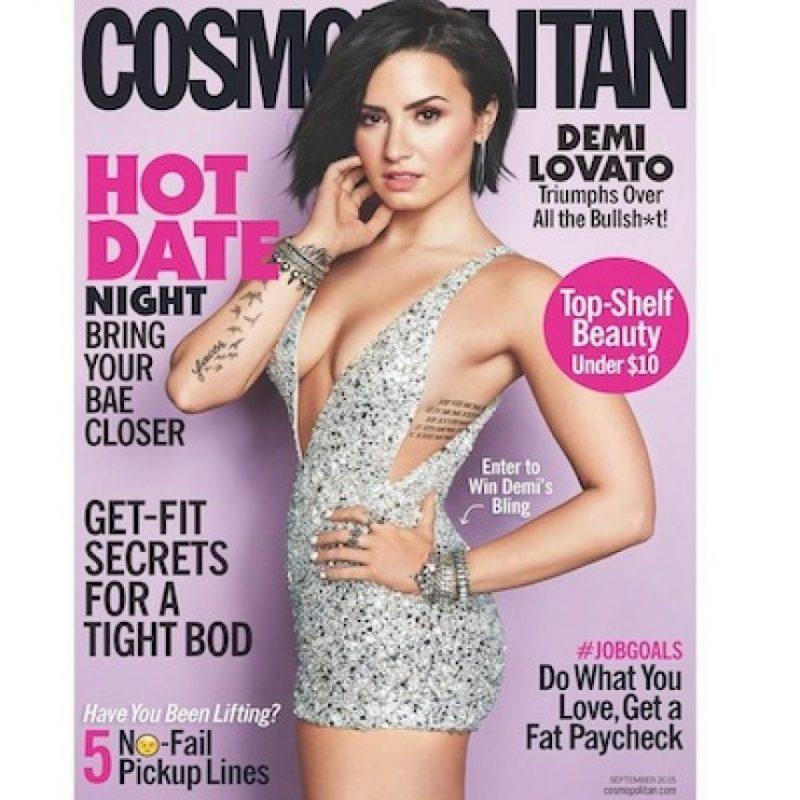 """Demi Lovato llegó a la portada de la revista """"Cosmopolitan"""" para mostrar su lado más sexy. Foto:Instagram/DemiLovato"""