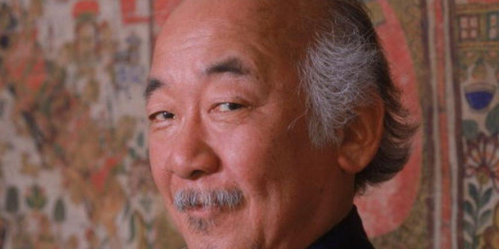 """Murió por insuficiencia renal. Fue nominado por su papel del """"Señor Miyagi"""" en los Oscar de 1984. Foto:vía Getty Images"""