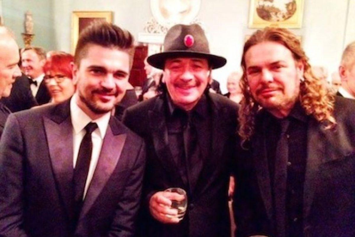 Juanes, Carlos Santana y Fher de Maná Foto:Twitter/Manaoficial