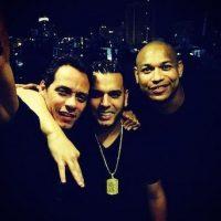 Marc Anthony, Tito El Bambino y Alexander Delgado Foto:Twitter/Alexandergdz1