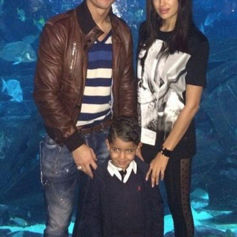 Cristiano Jr. también convive con las parejas de su papá. Foto:instagram.com/cristiano