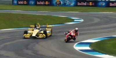 La motocicleta tomaba las curvas por dentro. Foto:MotoGP