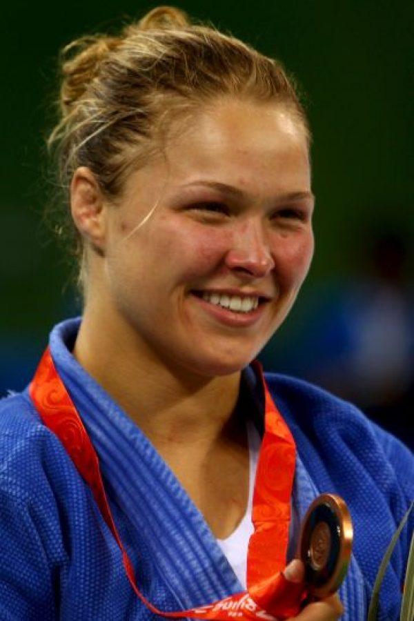 Y se convirtió en la primera mujer estadounidense que gana medalla en judo Foto:Getty Images