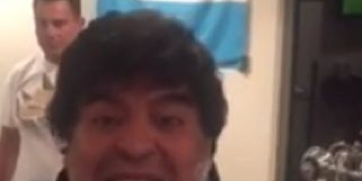 VIDEO: Diego Maradona se burla del novio de su exesposa