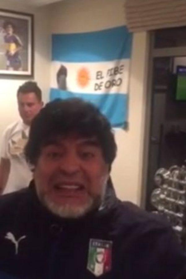 Diego Armando Maradona y su familia no paran con los escándalos. Foto:YouTube