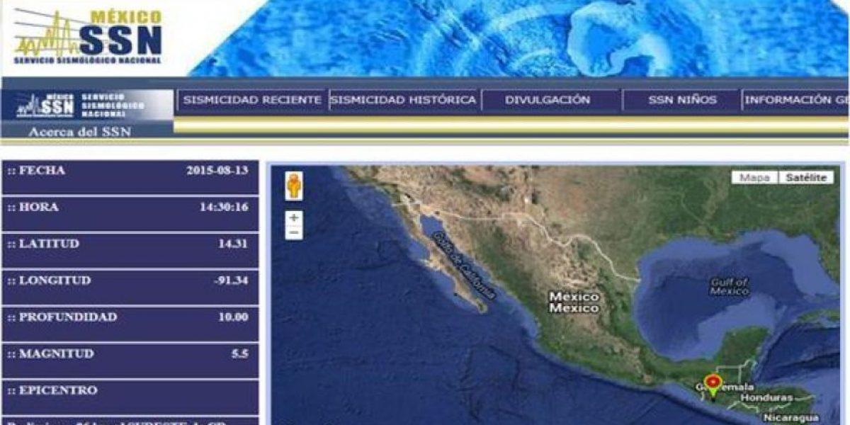 Conred: Sismo tuvo una magnitud de 5.5 en escala de Ritcher