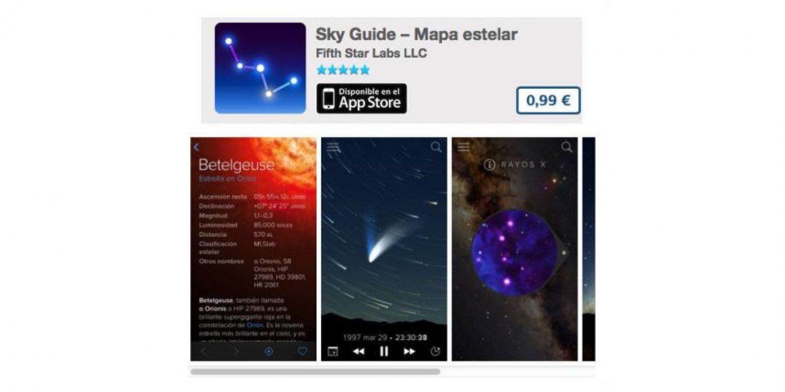 Sky Guide – Mapa estelar es la guía de constelaciones fácil de usar. Precio 1 dólar Foto:De Fifth Star Labs LLC
