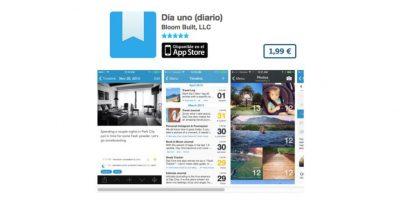 Día uno (diario) es la app con la que guardarán lo mejor de sus días en su dispositivo. Precio tres dólares Foto:De Bloom Built, LLC