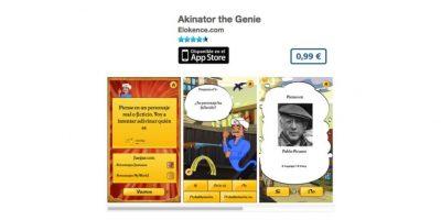 Akinator the Genie es la app que puede leer la mente y saber que personaje están pensando. Precio 1 dólar Foto:De Elokence