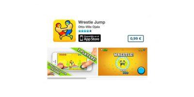 """Wrestle Jump es un divertido juego estilo """"vs."""" de luchadores. Precio un dólar Foto:De Otto-Ville Ojala"""