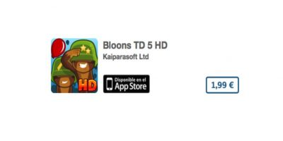 Bloons TD 5 HD es un puzzle divertido y en HD. Precio tres dólares Foto:De Ninja Kiwi