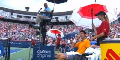 Video: Novak Djokovic detecta olor a marihuana en pleno partido