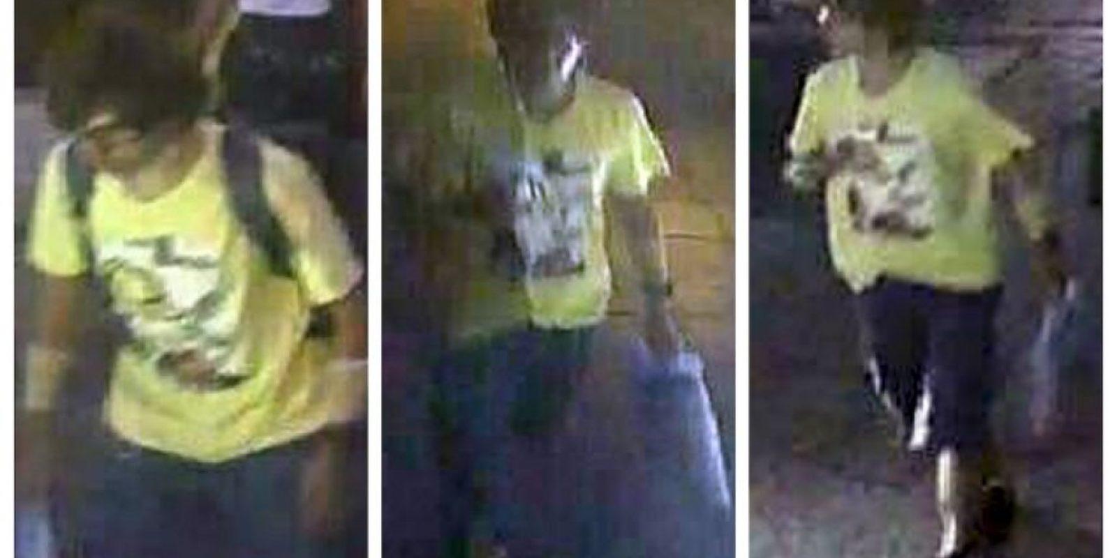 Imágenes del sospechoso, de quien no se conocen datos Foto:AP