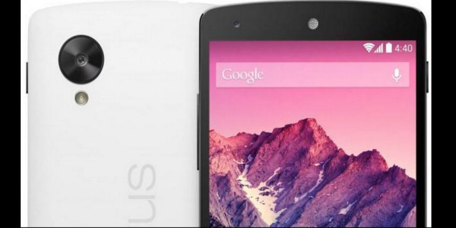 El sensor delantero tendría 13 megapíxeles y el trasero 4MP Foto:Nexus/Google