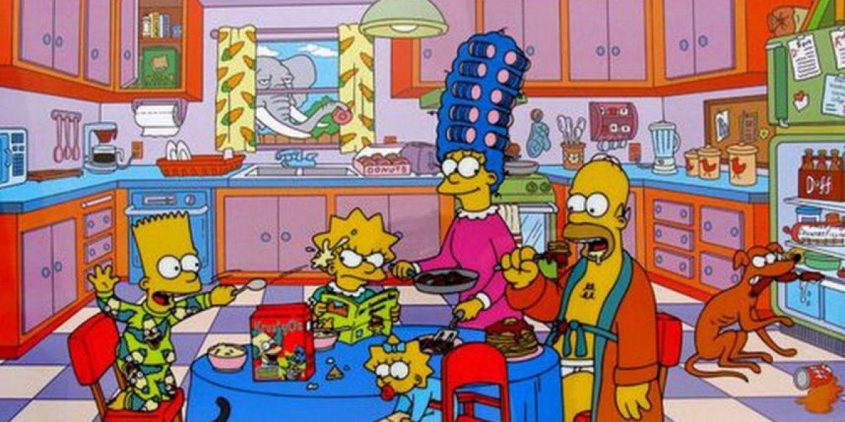 Una pareja recreó en su casa la cocina de Los Simpson