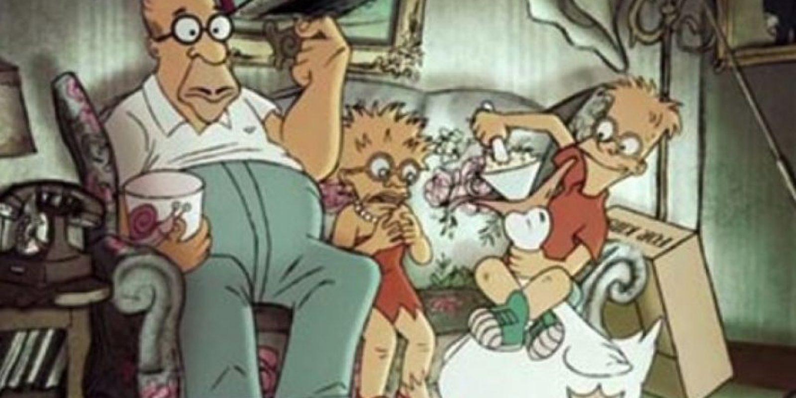 """""""Los Simpson"""" en el universo de las """"Trillizas de Belleville"""" Foto:Tumbrl"""