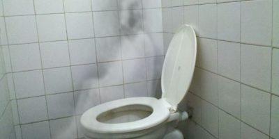 Un fantasma en el baño. Esta foto fue editada solo por diversión. Foto:Pinterest