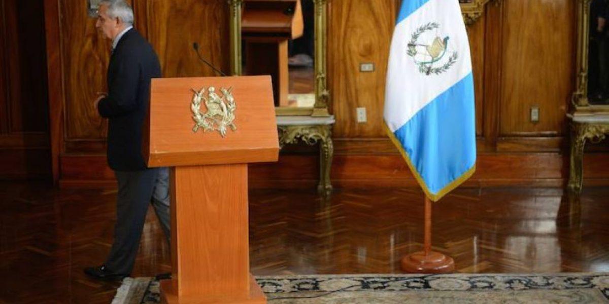 Otto Pérez se queda sin ningún ministro que comenzó en 2012
