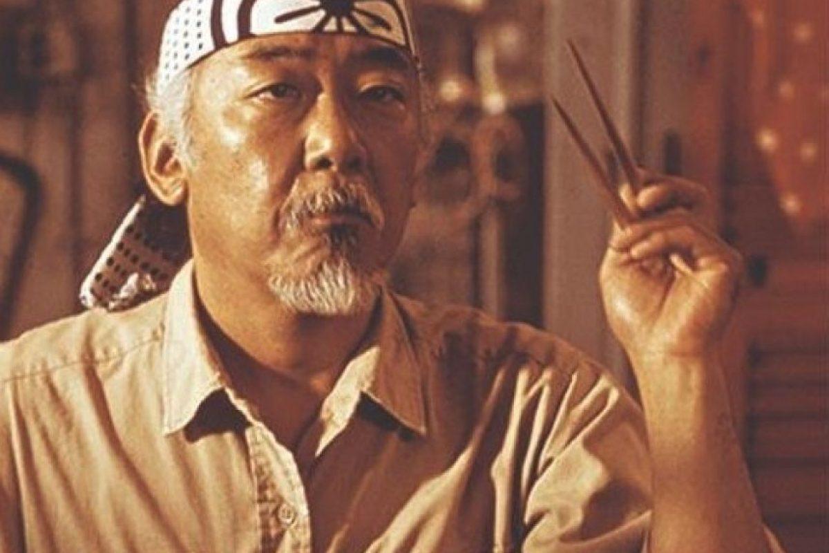 El actor de ascendencia japonesa interpretó al Sr Miyagi. Foto:IMDB