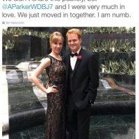 """""""No lo hicimos público, pero Parker y yo estábamos enamorados. Nos acabábamos de mudar juntos. Estoy en shock"""", explicó Chris Hurst Foto:Twitter.com"""