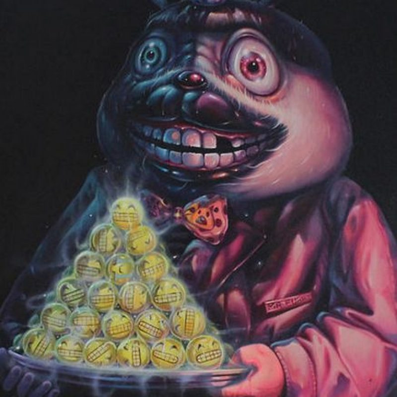 """""""Would You Like A Smile For Dessert"""" (2015) de Aof Smith. Cuesta dos mil 800 dólares. Foto:Arch Enemy Arts"""
