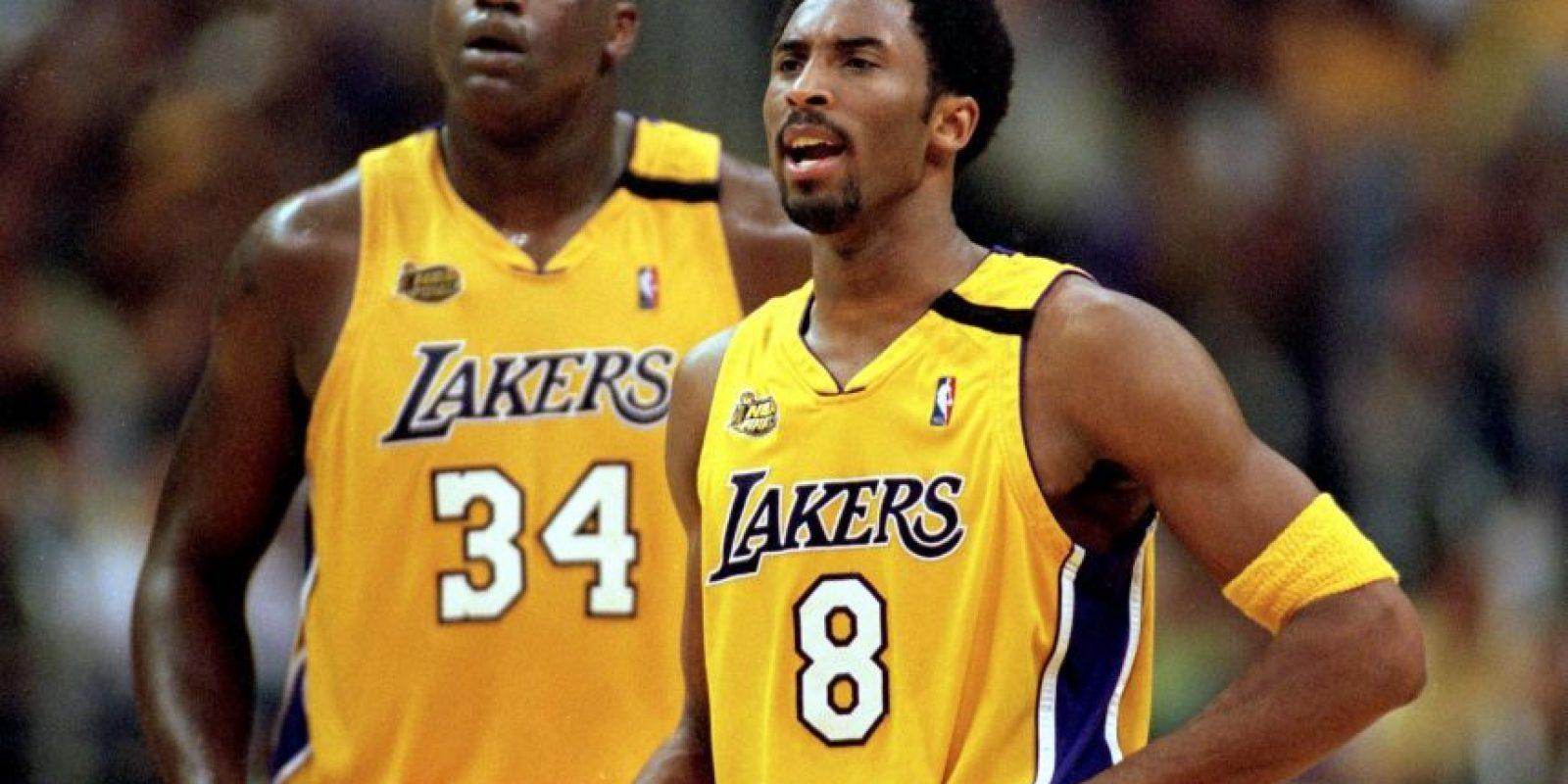 Shaquille O'Neall y Kobe Bryant formaron una de las parejas más explosivas de la NBA. Foto:Getty Images