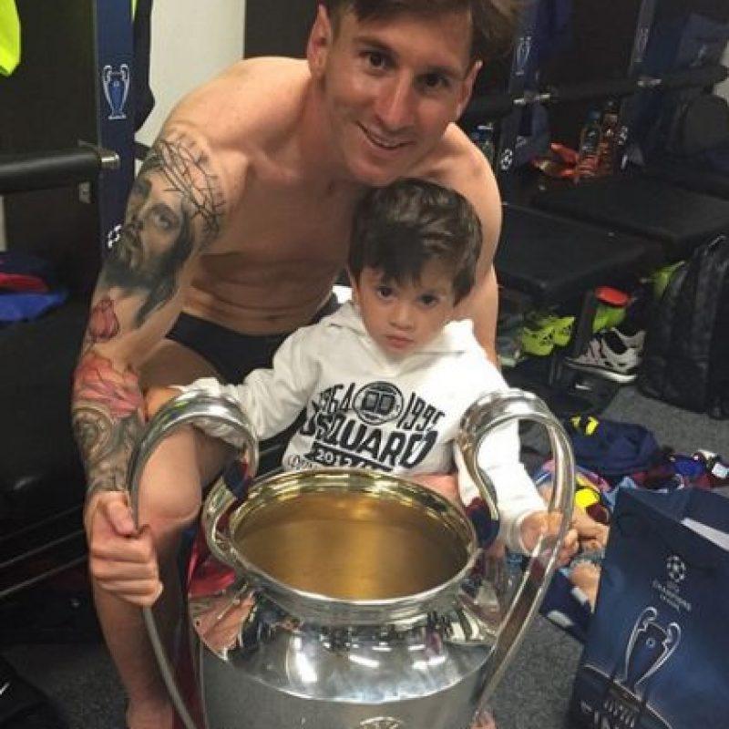 Thiago Messi es el hijo mayor de Lionel Messi. Foto:Vía instagram.com/leomessi