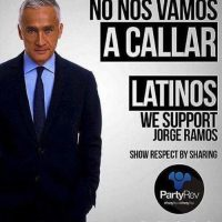 """A los latinos se les respeta"", indicó Fonsi junto a su imagen Foto:Getty Images"