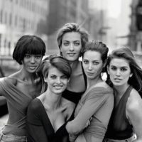 "Cindy Crawford, Naomi Campbell, Linda Evangelista, Tatjena Patitz y Christy Turlington Foto: ""Vogue UK"""