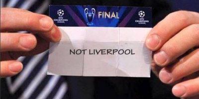"""Lo único seguro de este sorteo era… """"No Liverpool"""". Foto:Vía twitter.com"""