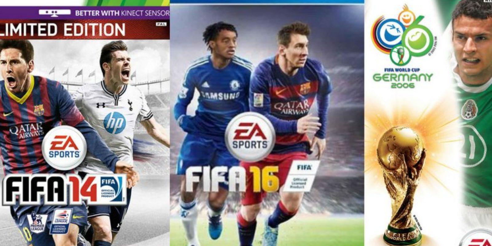 "La portada del ""FIFA"" ha sufrido diversos cambios. Foto:EA Sports"