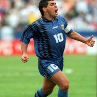 """Nunca gozó de una """"figura perfecta"""", pero su aumento de peso fue más evidente en 1994, y después de retirarse del fútbol. A pesar de ello es considerado uno de los mejores futbolistas de la historia. Foto:Getty Images"""