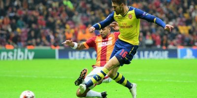 3. Gol de Aaron Ramsey (Arsenal) al Galatasaray. Foto: Getty Images