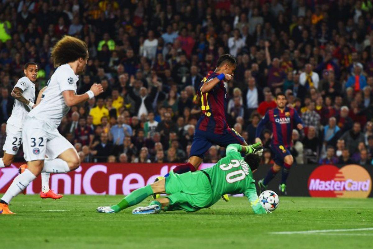 4. Gol de Neymar (Barcelona) al PSG. Foto:Getty Images
