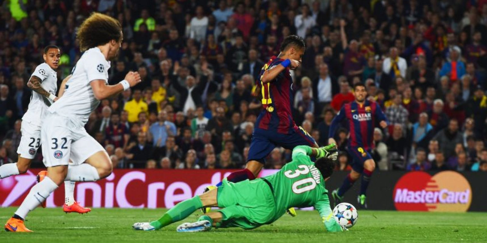 4. Gol de Neymar (Barcelona) al PSG. Foto: Getty Images