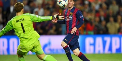 1. Gol de Lionel Messi (Barcelona) al Bayern Munich. Foto: Getty Images